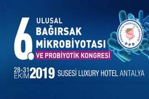 6. Ulusal Bağırsak Mikrobiyotası ve Probiyotik Kongresi 28 – 31 Ekim 2019